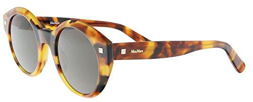 Max Mara MM DOTS I WR9 Havana MM DOTS I Oval Sunglasses Lens Category 3 Size ()