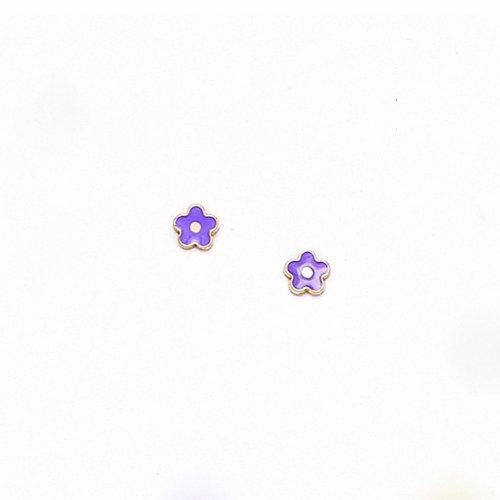 14 K jaune or poisson coccinelle-papillon, fleur, étoile, coeur, boucles d'oreilles, avec bouchon à vis, dimensions :  kids pour enfants