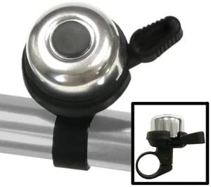 Silver Clean Motion Double Ding Bicycle Bell