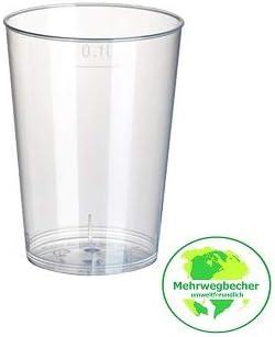 Vaso 0,1L Vasos de plástico Set Vasos Cristal 50 Piezas de Gastro de requisitos de Bien Heil: Amazon.es: Hogar