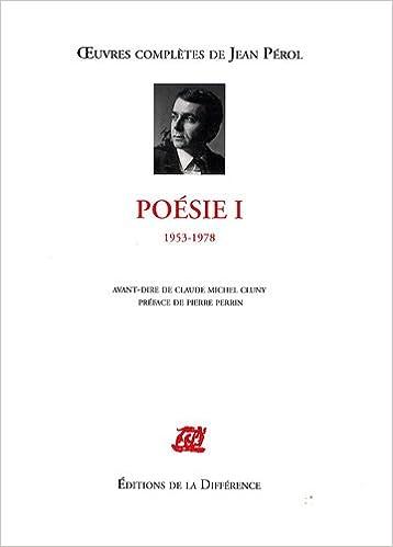 Téléchargement Poésie : Tome 1, 1953-1978 pdf epub