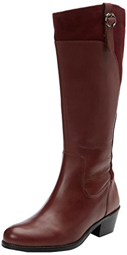 Joe Browns Leather And Suede - Botas Mujer Purple (B-Burgundy)