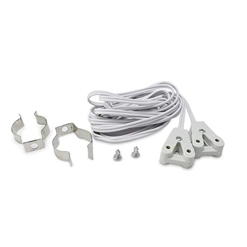 DEMASLED 4 Installation Kits for T8 LED Tube Light - Wall Mounting Bracket and G13 Socket to Hang The Tubes - Ceiling ()