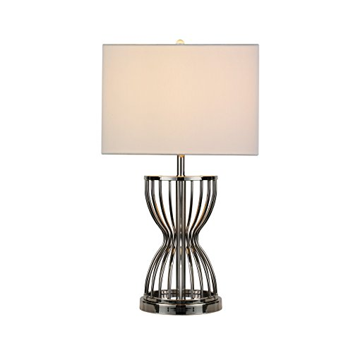 Cheap  MAYKKE Sherry Table Lamp with Unique Hourglass Cage Design | Bedroom Nightstand,..