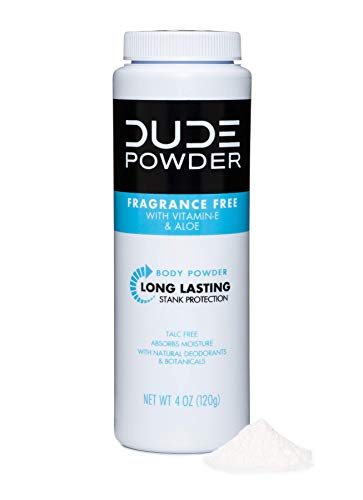 DUDE Powder, Fragrance-Free, 4 Ounce