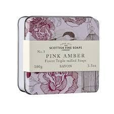 The Scottish Fine Soaps Company Soap In A Tin   Birds   Pink Amber Triple Milled  100G