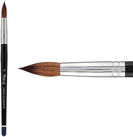 for Professional Watercolorists Gouaches Fluid Medias - Round 000 Creative Mark Rhapsody Kolinsky Sable Artist Watercolor Paint Brush Inks