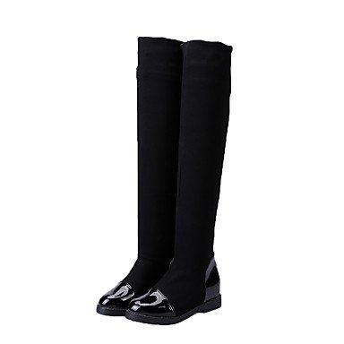 WSX&PLM Scarpe da ballo-Non personalizzabile-Da donna-Moderno / Stivali di danza-Basso-Di pelle / Tessuto-Nero , us9.5-10 / eu41 / uk7.5-8 / cn42