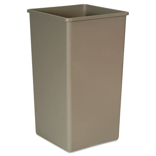 Rubbermaid Commercial Untouchable Waste Container, Square, Plastic, 50 gal, Beige. Includes one waste - One The Square Mall
