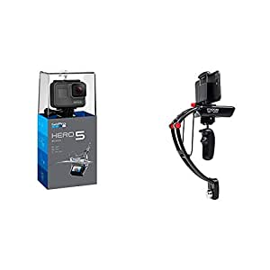 GoPro HERO5 Black 4K Action Camera with Steadicam stabilizer for iPhone 6/6+/7/7+, Samsung S8/S8+, Google Pixel, Sony Experia & GoPro HERO 5/4/3 cameras