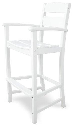 Ivy Terrace IVTD212WH Classics Bar Arm Chair, White