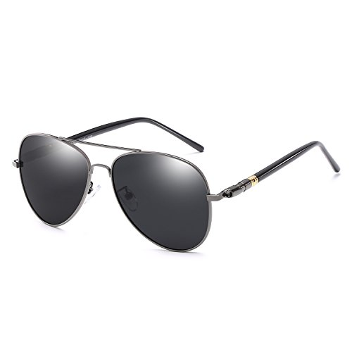 Millennial X Men/Women Aviator Sunglasses, Polarized UV400 (Black, Black)