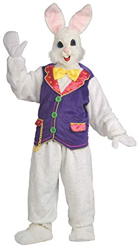 Rubie's mens womens Super Deluxe Bunny Costume, White, One -