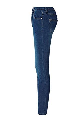 Regolare Skinny Jeans Blu Jeans Stretto Donna Alta Vita Fanvans Tratto wOtFSqvq