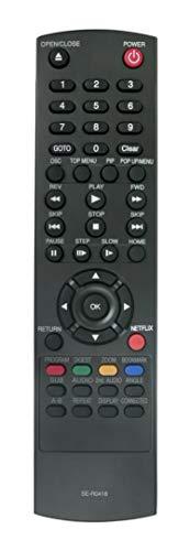 New SE-R0418 Replaced Remote Control fit for Toshiba Blu-Ray DISC DVD Player BDK23 BDK23KU BDK33 BDK33KU BDX2300 BDX2300KU BDX3300 BDX3300KU BDX5300 BDX5300KU SD-5300 SD5300 (Toshiba Blu Ray Remote Control)