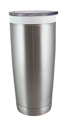 CeramiSteel 22 ounce Travel Mug with Lid | Ceramic Coated Stainless Steel Tumbler | Vacuum Insulated and BPA Free | Stainless Finish ()