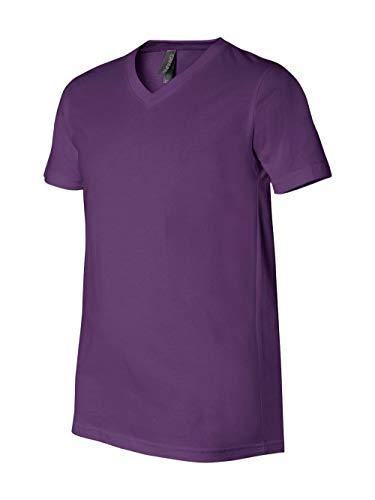 Bella + Canvas Unisex Jersey Short Sleeve V-Neck Tee, Team Purple, ()