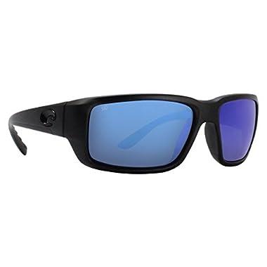 d84da85284e4 Costa Del Mar Fantail Sunglasses, Blackout, Blue Mirror 580 Glass Lens