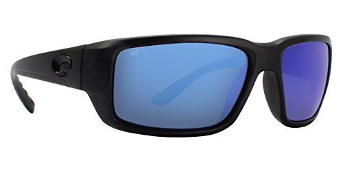 Polarized Mirror Blue Glass - Costa Del Mar Fantail Sunglasses, Blackout, Blue Mirror 580 Glass Lens