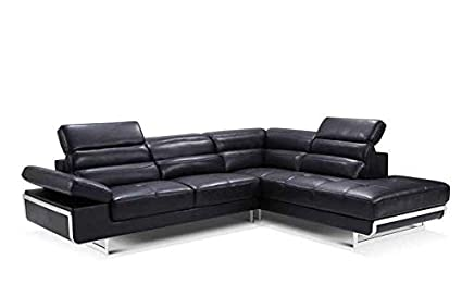 Superb Amazon Com 2347 Leather Right Hand Facing Sectional Sofa In Short Links Chair Design For Home Short Linksinfo