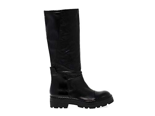 Janet Sport Women's Jspo36710 Black Leather Boots