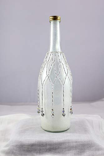 Beaded silver wine bottle beads.