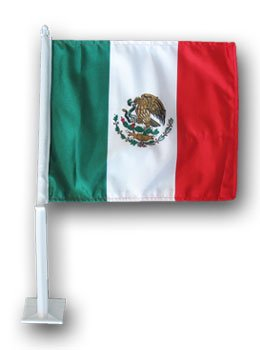 World Cup Soccer Mexico Country Car - Mexican Car Flag