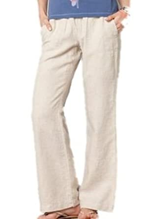 attractivefashion where to buy 60% discount Savoir Relaxed Fit Wide Leg Stone Linen Trousers Size 8 ...