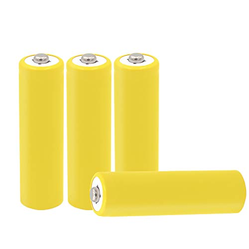 4-Pack AA Battery Placeholder Cylinder AA Size Hot Dummy Fake Battery Setup Shell ()