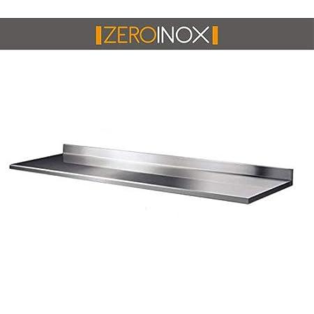 Piano da Lavoro Tutte le misure - 60cm profondità per Tavolo in Acciaio con Alzatina. Professionale Cucina (40x60x40h) ZeroInox