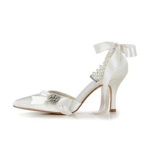 Jia Jia Wedding A313A chaussures de mariée mariage Escarpins pour femme Beige iaPB9l1l2b