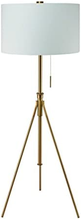 "Ore International 31171F-SG Mid-Century 58"" to 72"" H Adjustable Tripod Floor Lamp"