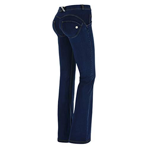 Elástico De Freddy Pantalón Medium Jeans En costuras Wr Regular Talle Campana Denim Amarillo up® Scuro TtzWzAfnwc