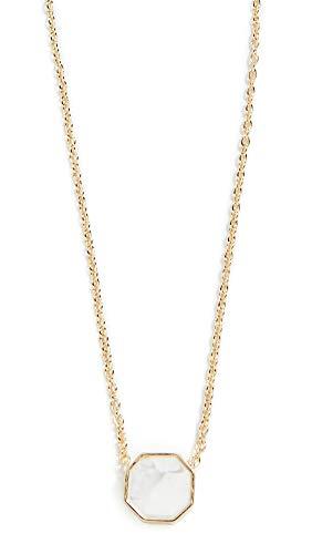 Gorjana Charm - gorjana Women's Power Gemstone Charm Necklace, Howlite/Gold, One Size
