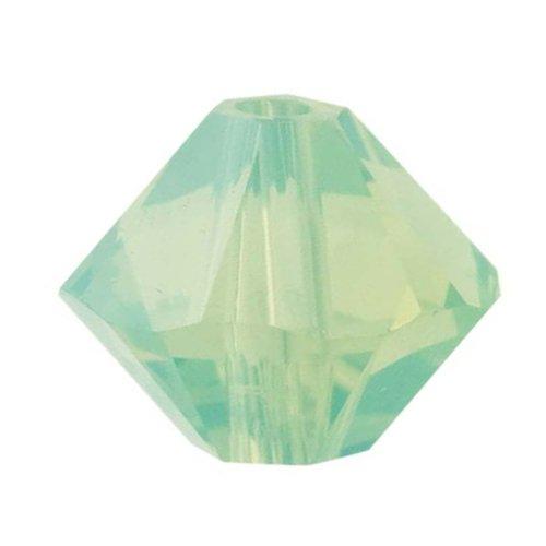 (Swarovski Crystal, 5328 Bicone Beads 3mm, 25 Pieces, Chrysolite Opal )