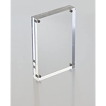 10 pack clear 4 x6 magnetic block picture frame acrylic photo frames. Black Bedroom Furniture Sets. Home Design Ideas