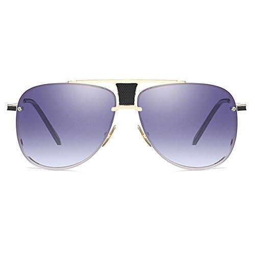 Grande Retro hombres Oversize Marco sol UV400 Square Eyewear Shaped Designer Oro Classical de Gafas Male para Gris UWzTUdqn