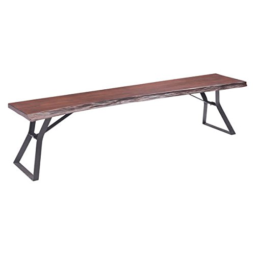 Zuo Modern Omaha Bench, Distressed Cherry Oak by Zuo Modern