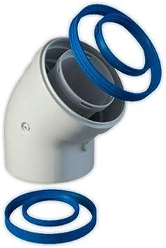 Codo coaxial FIG diámetro 60/100 mm M/H 45° | FIG Para Condensacion