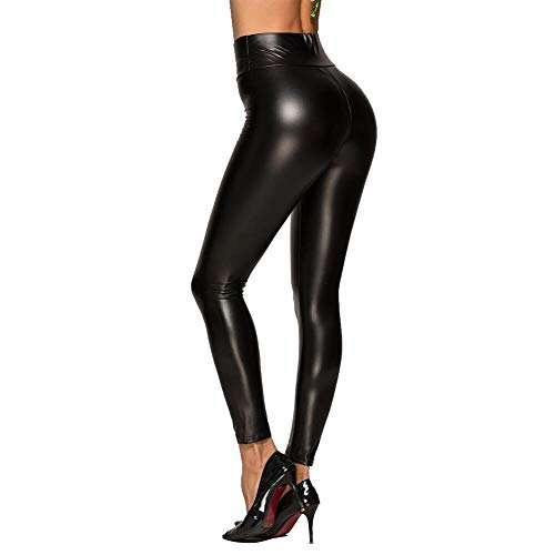 TRAIPAINK Sexy Womens Faux Leather High Waisted Leggings (XX-Large) Black - High Quality Faux Leather