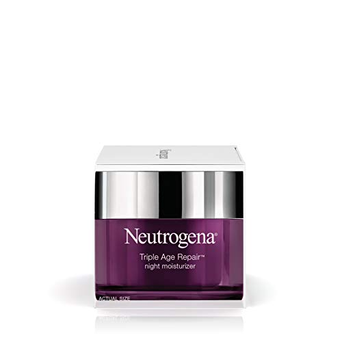 319HgpvqKrL - Neutrogena Triple Age Repair Anti-Aging Night Face Cream with Vitamin C to Fight Wrinkles & Even Tone, Dark Spot Remover & Firming Face & Neck Cream with Glycerin & Shea Butter, 1.7 oz