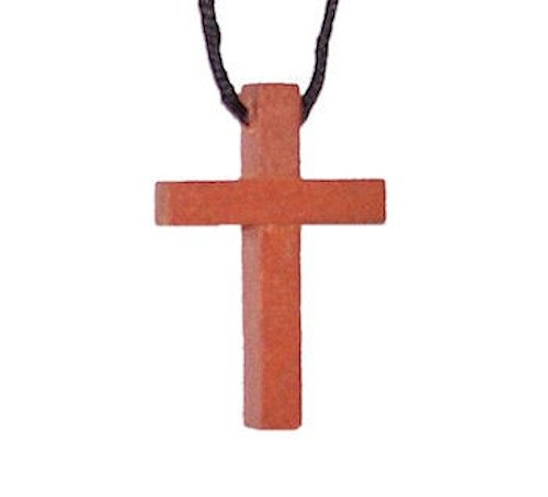 48 Wholesale Wooden Cross Necklaces (Small Bulk Items)