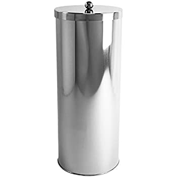 HUJI Rust Resistant Stainless Steel Toilet Paper Roll Canister Holder For  Bathroom Storage (1,