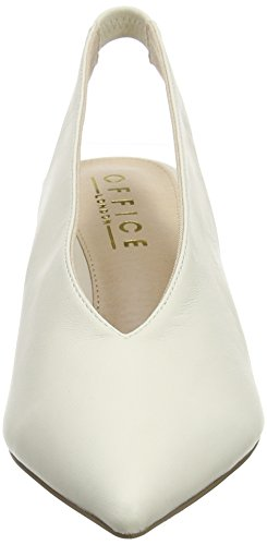 6b208204c5f3af Unbekannt Damen Miranda Slingback Pumps White White Leather - porta ...