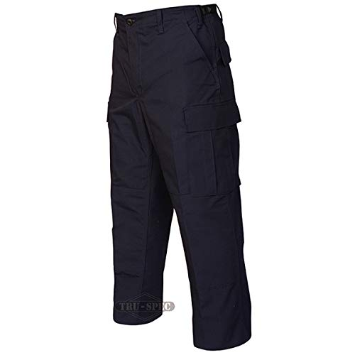 (TRU-SPEC 1996043 Gen 1 Police BDU Pants, Polyester Cotton Rip-Stop, Small Short, Navy)