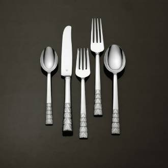 Vera Wang Plisse Stainless Sugar Spoon Flatware (Vera Wang Stainless Steel Spoon)