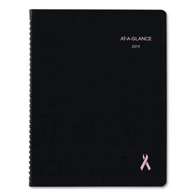 AT-A-GLANCE 76PN0605 QuickNotes Special Edition Monthly Planner, 9 1/4 x 11 3/8, Black/Pink, 2016