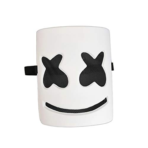 Lovhop DJ Marshmellow LED Mask EVA Full Head Helmets Prop Kits for Halloween Easter Cosplay Bar Music Festival Party -