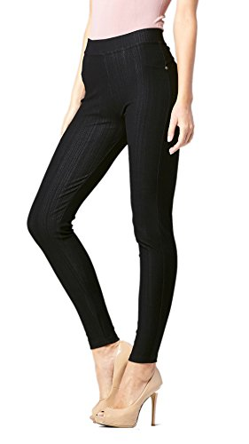 Conceited Premium Jeggings for Women – Full and Capri Length – Regular and Plus Sizes – Breathable Cotton Blend
