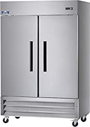"""Arctic Air AR49 54"""" Two Section Solid Door Reach-in Commercial Refrigerator - 49 cu"""
